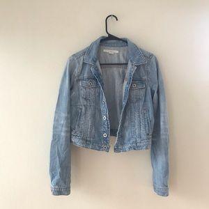 Ralph Lauren Distressed Cropped Denim Jacket
